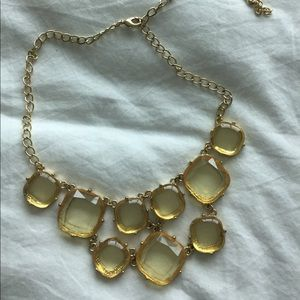 Jewelry - Statement necklace yellow faux stones